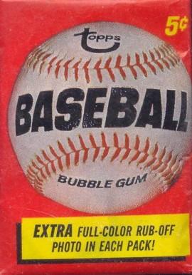 1960 1969 Unopened Packs 1960s 1966 Topps Wax Pack 66twp
