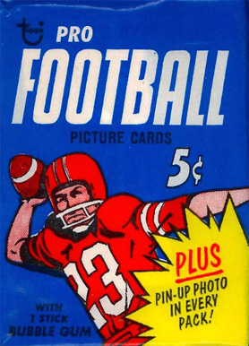 1960-1969 Unopened Packs (1960's)   #68Twp Football Card
