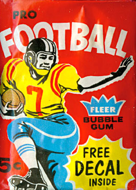 1960-1969 Unopened Packs (1960's)   #60F5cwp Football Card