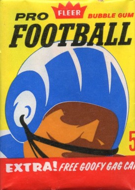1960-1969 Unopened Packs (1960's) 1963 Fleer Wax Pack #63Fwp Football Card