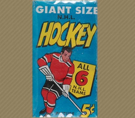 1960-1969 Unopened Pack (1960's)   #64T5CWP Hockey Card