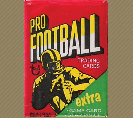 1970-1979 Unopened Packs (1970's)   #71Twp Football Card