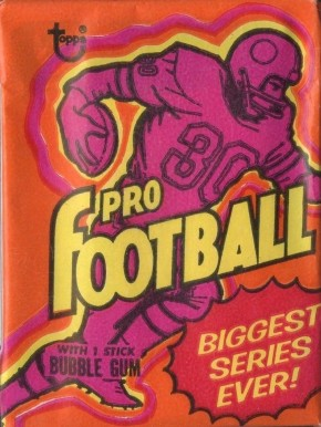 1970-1979 Unopened Packs (1970's)   #73Twp Football Card