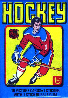 1970-1979 Unopened Pack (1970's)   #1979twp Hockey Card