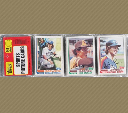1980-1989 Unopened Packs (1980's) 1982 Topps Double Rack Pack #82TDRP Baseball Card
