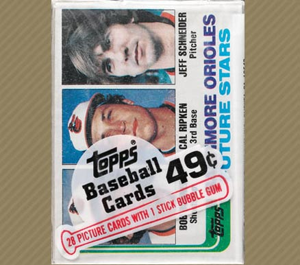 1980-1989 Unopened Packs (1980's)   #82TCP Baseball Card