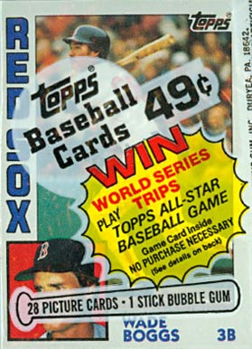1980-1989 Unopened Packs (1980's)   #84tcp Baseball Card