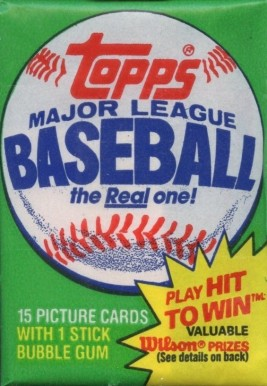 1980-1989 Unopened Packs (1980's)   #81TWP Baseball Card