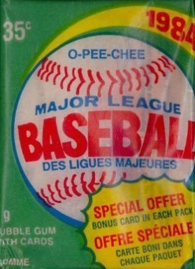 1980-1989 Unopened Packs (1980's)   #84OPCWP Baseball Card