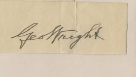 Autograph Cut Signatures (HOF) George Wright #271 Baseball Card