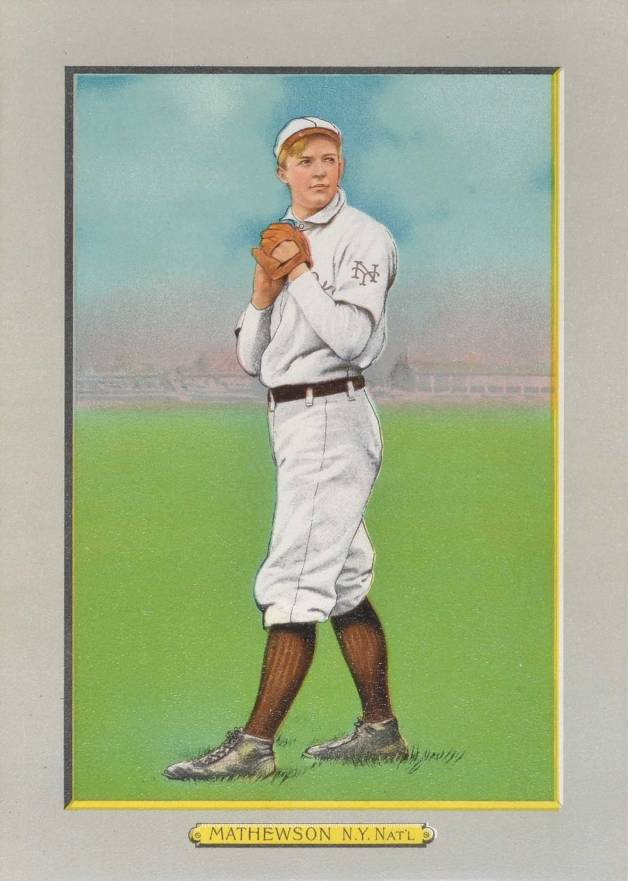 1911 Turkey Reds MATHEWSON, N.Y. Nat'L #27 Baseball Card