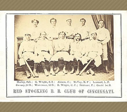 1869 Peck & Snyder Cincinnati Red Stockings Team # Baseball Card