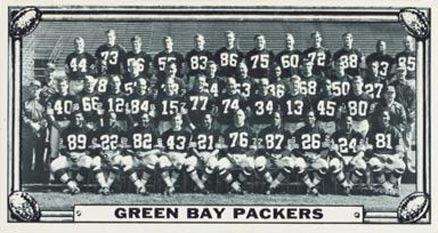 1968 Topps Test Teams Green Bay Packers Team #1 Football Card