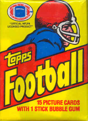 1980-1989 Unopened Packs (1980's)   #81Twp Football Card
