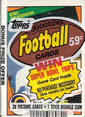 1980-1989 Unopened Packs (1980's)   #84Tcp Football Card
