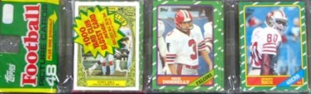 1980-1989 Unopened Packs (1980's)   #86Trp Football Card