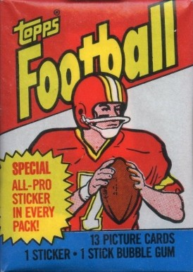 1980-1989 Unopened Packs (1980's)   #83Twp Football Card