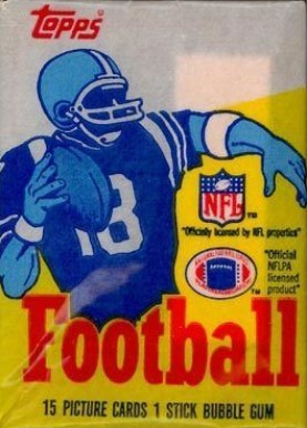 1980-1989 Unopened Packs (1980's)   #85Twp Football Card