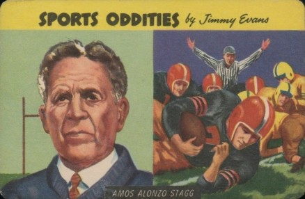1954 Quaker Amos Alonzo Stagg #7 Football Card