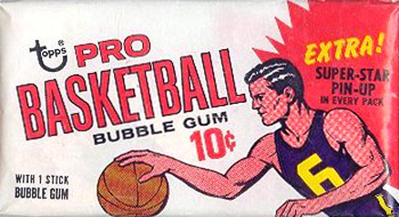 Pre-1970 Unopened Packs 1969 Topps Wax Pack #69Twp Basketball Card