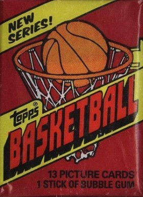1980-89 Unopened Packs 1981 Topps Wax Pack #81Twp Basketball Card