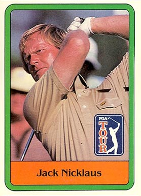 1981 Donruss Golf Jack Nicklaus #13 Boxing & Other Card