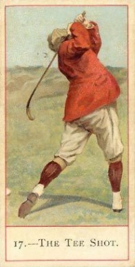 1900 Cope Golfers A Tee Shot #17 Boxing & Other Card
