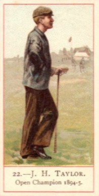 1900 Cope Golfers J.H. Taylor #22 Boxing & Other Card