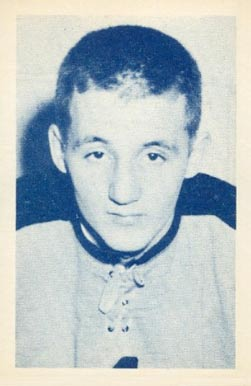 1952 Juniors Blue Tint Marven Edwards #17 Hockey Card