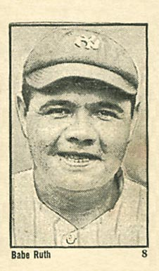 1923 Maple Crispette Babe Ruth #8 Baseball Card