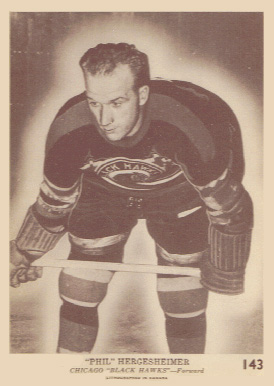 1940 O-Pee-Chee Wally Hergesheimer #143 Hockey Card