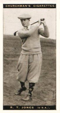 1927 WA & AC Churchman's (Golf Small) Bobby Jones #28 Boxing & Other Card