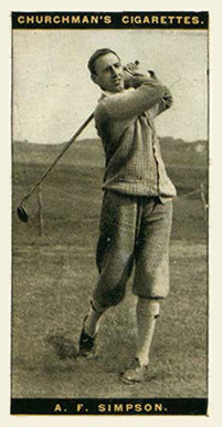 1927 WA & AC Churchman's (Golf Small) A.F. Simpson #38 Boxing & Other Card