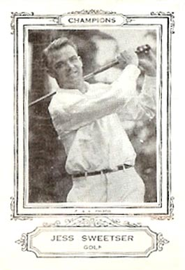 1926 Spalding Champion Golf Jess Sweetser # Boxing & Other Card