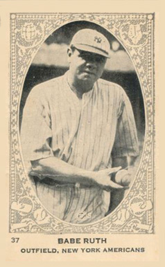 1922 Neilson's Chocolate Type 1 Babe Ruth #37 Baseball Card