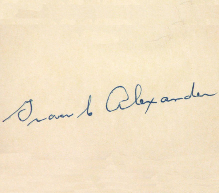 1950 Autograph Index & Postcards  Grover  Alexander # Baseball Card