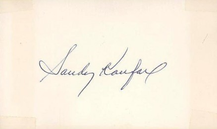 1950 Autograph Index & Postcards  Sandy  Koufax # Baseball Card