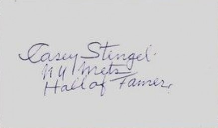 1950 Autograph Index & Postcards  Casey Stengel # Baseball Card