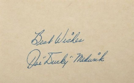 1950 Autograph Index & Postcards  Ducky Medwick # Baseball Card