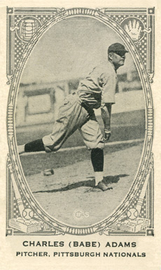 1922 Neilson's Chocolate (Type 2) Babe Adams #1 Baseball Card