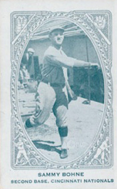 1922 Neilson's Chocolate (Type 2) Sammy Bohne #9 Baseball Card