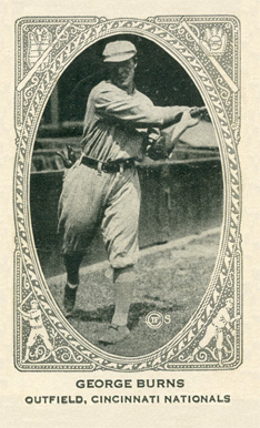 1922 Neilson's Chocolate (Type 2) George J. Burns #11 Baseball Card