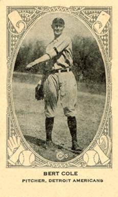 1922 Neilson's Chocolate (Type 2) Bert Cole #20 Baseball Card