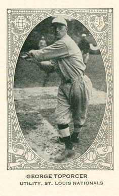 1922 Neilson's Chocolate Type 2 George Toporcer #107 Baseball Card