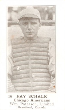 1923 William Paterson Ray Schalk #16 Baseball Card