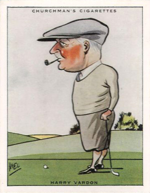 1931 WA & AC Churchman Prominent Golfers Harry Vardon #9 Boxing & Other Card