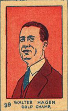 1926 Strip Card Walter Hagen #39 Boxing & Other Card