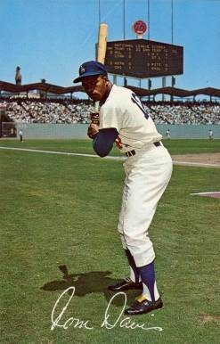 1962 L.A. Dodgers Postcards (1962-65) Tommy Davis #1 Baseball Card