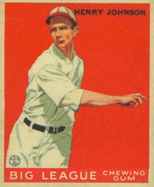 1933 Goudey Henry Johnson #14 Baseball Card