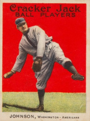 1914 Cracker Jack Walter Johnson #57 Baseball Card